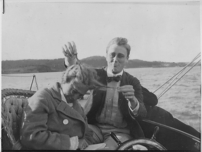Franklin D. Roosevelt, with his cousin, 1910