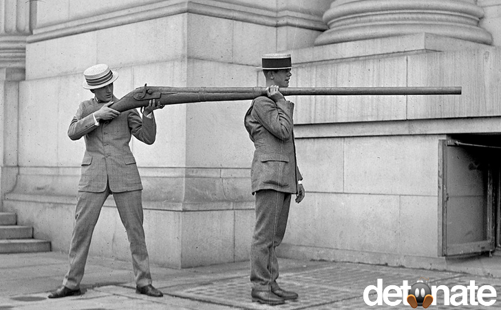 "y. This is the ""Punt Gun,"" which could kill 50 ducks in one shot"