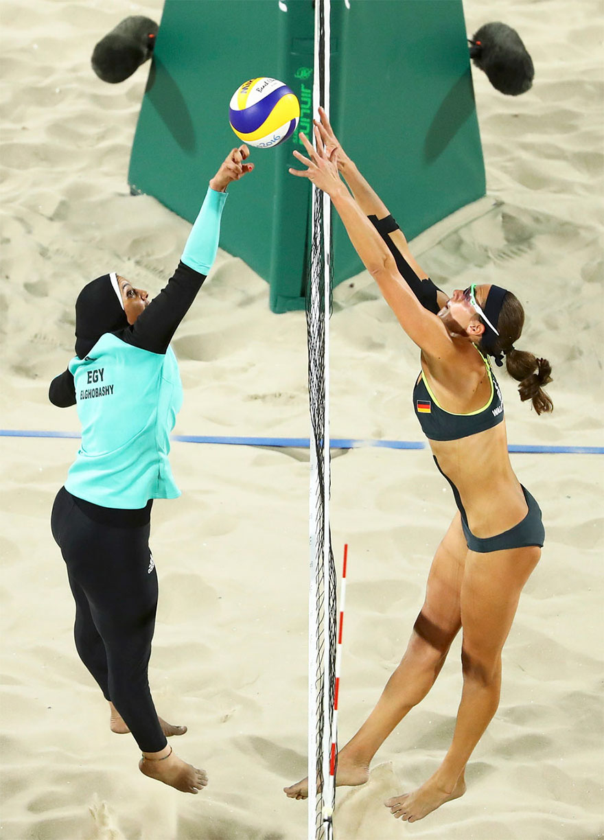 doaa-elghobashy-of-egypt-and-kira-walkenhorst-of-germany-compete-in-the-preliminary-beach-volleyball-event-at-the-rio-olympics-august-7-2016